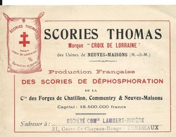 Meurthe Et Moselle NEUVES MAISONS Publicité Scories Thomas Croix De Lorraine Cie Dépliant 4 Pages - Publicités