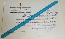 Test De Dépistage De La Tuberculose Sous Forme Négative - Plan National D'éradication De La Tuberculose, 1967 - Historische Dokumente