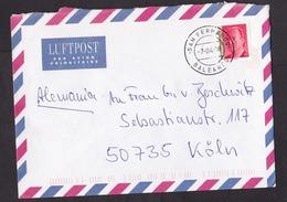 Spain: Airmail Cover To Germany, 1998, 1 Stamp, Cancel San Fernando, Ibiza, Balearic Islands (minor Damage) - 1931-Heute: 2. Rep. - ... Juan Carlos I