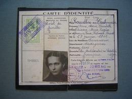 CARTE D' IDENTITE DELIVREE A ALGER 1945 - Documenti Storici