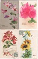 Lot 4 De 35 Cartes Postales Gaufrées , Fleurs , Souvenirs , Multivues , Tous Les Visuels Dans L'annonce - Postcards