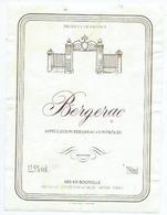 Etiquette Vin Bergerac - Bergerac
