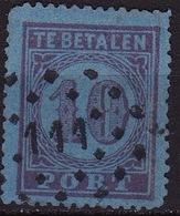 Puntstempel 111 (Veghel) Op 1870 Portzegels Groot Waardecijfer 10 Cent Violet Op Blauw Kamtanding 13¼ NVPH P 2 A - Postage Due