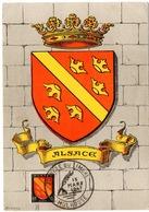 HERALDIQUE = 68 MULHOUSE 1947 = CARTE MAXIMUM  Illustrée D' ARMOIRIES + N° Yvt 756 ALSACE - Maximum Cards