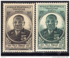 A. E. F. N° 206 / 07  XX Félix Eboué Les 2 Valeurs Sans Charnière, TB - Unused Stamps