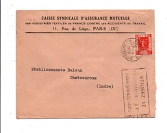N° 325 SEUL SUR LETTRE DE PARIS 118 1936 - 1921-1960: Modern Tijdperk