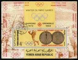 Yemen Arab Republic Winter Olympic Games Germany Gold Medal Winner M/s Cancelled # 13457 - Winter 1972: Sapporo
