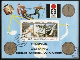 Yemen Arab Republic Olympic Games Sapporo France Gold Medal Winner M/s Cancelled # 13462 - Winter 1972: Sapporo