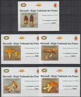 Burundi 2012 Mushrooms/ Champignons BF Luxe MNH - Champignons