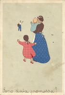 """Scrittori, Poesie, Versi (M. Del Giglio) """"Oh, Che Festa Ogni Giorno Che ..."""" Mamma Con Bimbi Che Aspettano Il Papà - Scrittori"""