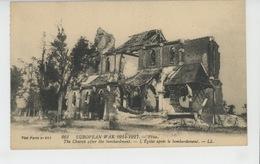 Carte PUB Pour BONBONS DU PERE ANTONIO (antitussifs) Avec Vue De FRISE (Église Bombardée ) Pendant La GUERRE 1914-18 - Publicité