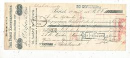 Mandat à Ordre , 1906,THE PARIS EARTHENWARE , Crystal & Hardware Co. L.ed , 3 Scans,frais Fr 1.65 E - Bills Of Exchange