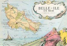 Cartes Geographique - Belle Ile En Mer    AR 292 - Belle Ile En Mer