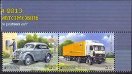 UKRAINA - MNH - EUROPA CEPT - CARS - MI.NO.1334/5 - CV = 4,80 € - 2013