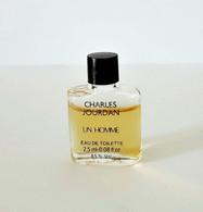 Miniatures De Parfum    UN HOMME   De   CHARLES JOURDAN   EDT   2.5  Ml - Miniaturen Flesjes Heer (zonder Doos)