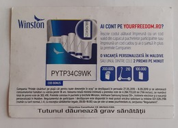 ROMANIA-CIGARETTES  CARD,NOT GOOD SHAPE,0.95 X 0.85 CM - Unclassified