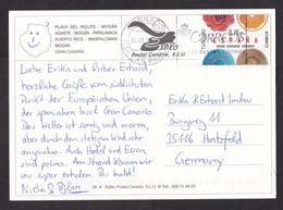 Spain: PPC Picture Postcard To Germany, 2014, 1 Stamp, Tourism, Cancel Las Palmas, Canary Islands (traces Of Use) - 1931-Heute: 2. Rep. - ... Juan Carlos I
