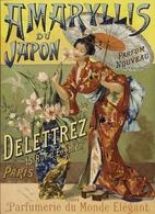 @@@ MAGNET - Amaryllis Du Japon Parfum Nouveau. Delettrez, 15 Rue D'Enghien Paris, Parfumerie Du Monde élégant - Publicitaires