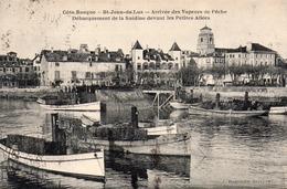 SAINT-JEAN-DE-LUZ - Débarquement De La Sardine Devant Les Petites Allées - Dargains Edit - écrite 1925 - Tbe - Saint Jean De Luz