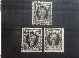 ESPAGNE / ESPANA / SPAIN / SPANIEN 1898 ,Impuesto De Guerra No 27,3 Nuances 5 C , Noir / Gris Noir ,2 O / Neuf (*)TB - Impuestos De Guerra