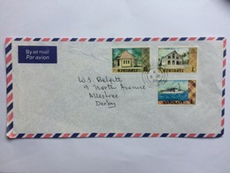 KIRIBATI 1980 Air Mail Cover To Derby England - Kiribati (1979-...)