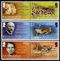 Falkland Islands - South Georgia - 2019 - Food In South Georgia - Mint Stamp Set - Géorgie Du Sud