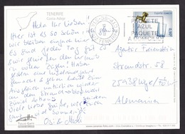 Spain: PPC Picture Postcard To Germany, 2015, 1 Stamp, Water, Cancel Sta Cruz Tenerife, Canary Islands (traces Of Use) - 1931-Heute: 2. Rep. - ... Juan Carlos I