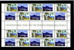 AUSTRALIA - 1993  AUSTRALIA DAY  BLOCK  OF FOUR  GUTTER STRIP  FINE USED FDI - 1990-99 Elizabeth II