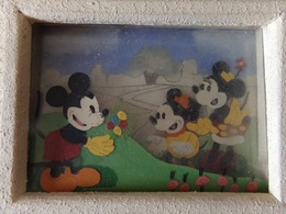 Cadre Mickey, Peinture Sur Verre Par Autorisation De Walt Disney - Empty Cigar Cabinet
