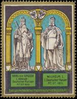 Würzburg: Karl Der Grosse - Wilhelm I. Reklamemarke - Erinnofilie
