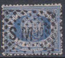 Saint-Marin N° 3 A O 10 C. Bleu Oblitération Moyenne Sinon TB - Saint-Marin