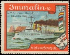 Mettmann: S.M.S. Prinz Heinrich Vor Helgoland Reklamemarke - Erinnophilie