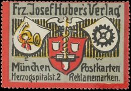 München: Postkarten, Reklamemarken Reklamemarke - Erinnofilie