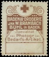 Bühl/Baden: Spezialität: Photographische Bedarfsartikel Reklamemarke - Erinnophilie