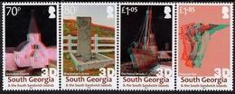 Falkland Islands - South Georgia - 2019 - Grytviken In 3D  - Mint Stamp Set With 3D Effect - Südgeorgien