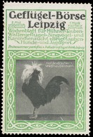 Leipzig: Holländischer Weißhaubenhahn Reklamemarke - Vignetten (Erinnophilie)