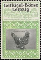 Leipzig: Porzellanzwerg Huhn Reklamemarke - Vignetten (Erinnophilie)