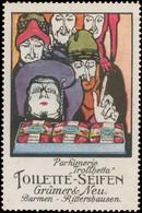 Barmen, Rittershausen: Parfümerie Trollhetta Reklamemarke - Erinnofilia