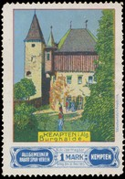 Kempten/Allgäu: Burghaide Kempten Im Allgäu Reklamemarke - Cinderellas