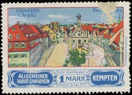 Kempten/Allgäu: Rathausplatz Reklamemarke - Cinderellas