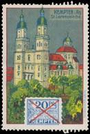 Kempten/Allgäu: St. Lorenzkirche Reklamemarke - Cinderellas