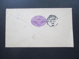GB 1898 Ganzsachen Umschlag Stempel Battersea Firmenumschlag Werbung Price's Patent Candle Company Belmont Works - Briefe U. Dokumente