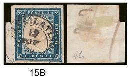 20 Cent. (15B) Framm. Ann. PAULILATiNO (p.8) Firmata (€ 310) - Sardaigne