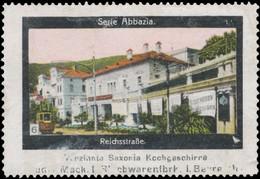 Bayreuth: Reichsstraße In Abbazia Reklamemarke - Vignetten (Erinnophilie)