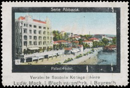 Bayreuth: Palast-Hotel In Abbazia Reklamemarke - Cinderellas