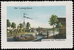Schleuse Bei Forchheim Reklamemarke - Cinderellas