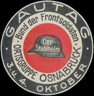 Osnabrück: Gautag Reklamemarke - Vignetten (Erinnophilie)