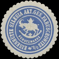 Rybnik, Paruschowitz/Oberschlesien: Eisenhütte Silesia AG Reklamemarke - Erinofilia