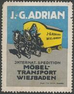 Wiesbaden: Internationale Spedition Reklamemarke - Cinderellas