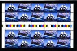 AUSTRALIA - 1995  ENDEAVOUR  GUTTER STRIP  MINT NH - 1990-99 Elizabeth II